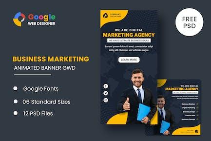 Marketing Agency Google Adwords Banner Animated