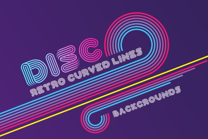 Cover Image For Disco Retro Lines Backgrounds
