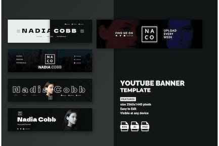 Modern Youtube Banner Template