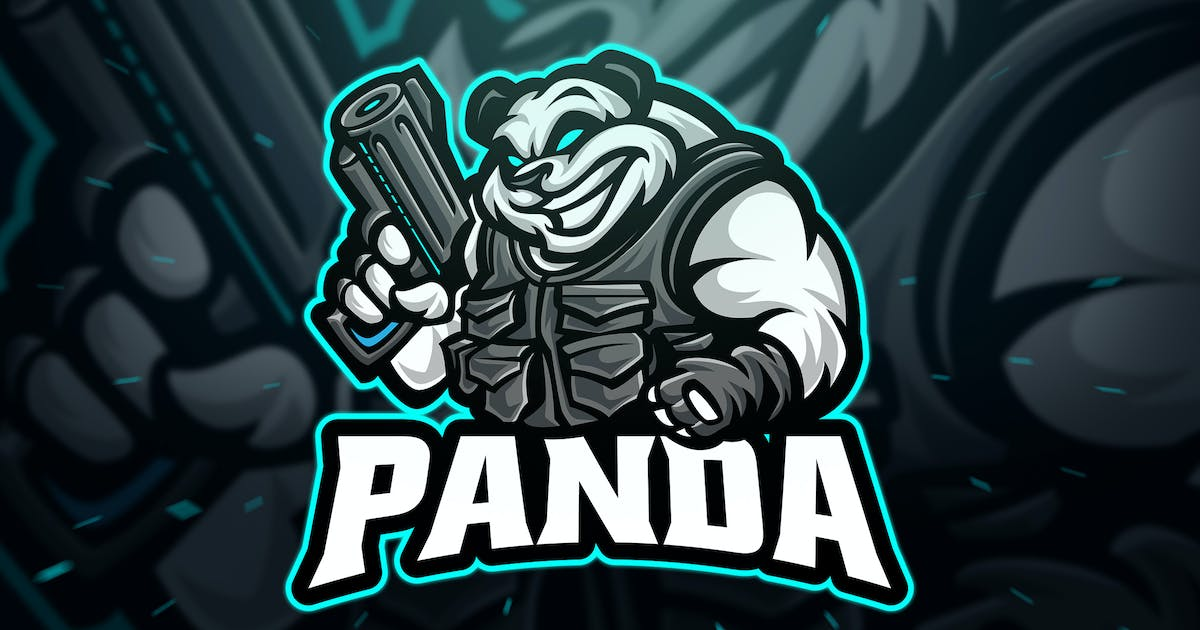 Download Panda Sniper Sport and Esport Logo by Blankids