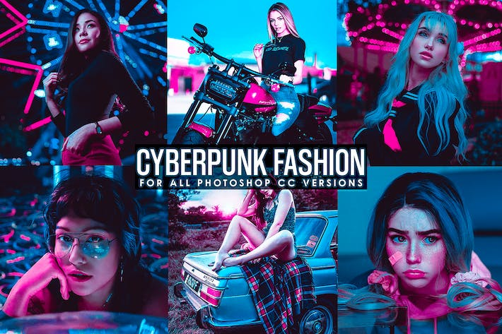 Thumbnail for Cyberpunk - Neon Lights Photoshop Actions