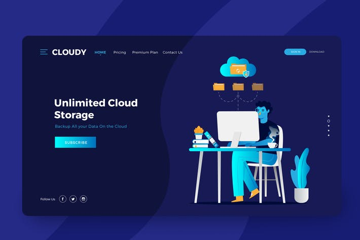 Thumbnail for Cloud Storage Services Vector Illustration