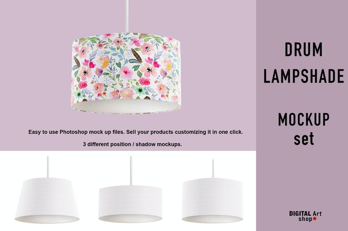Thumbnail for Drum Lampshade Mock Up - set of 3