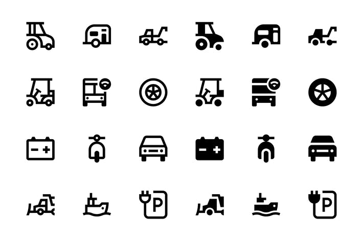 Thumbnail for 76 Íconos de transporte