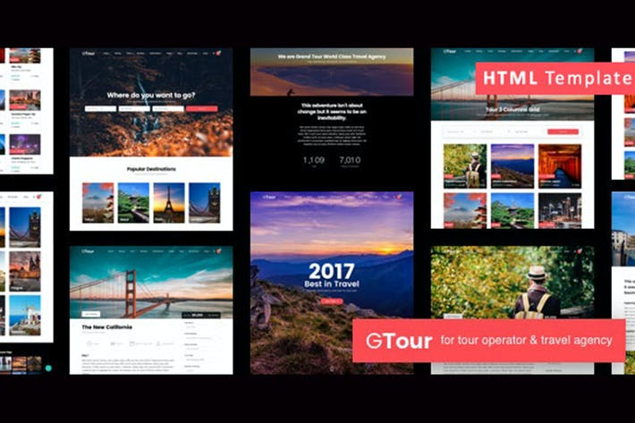 Thumbnail for Grand Tour | Travel Agency HTML Template