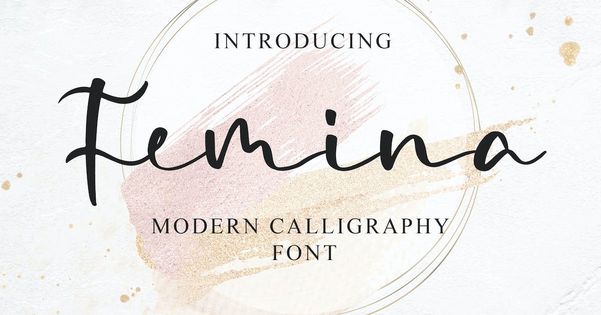 Download Femina - a Modern Calligraphy Font by Blankids