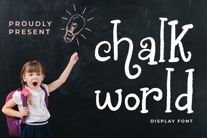 Thumbnail for Tipo de letra de pantalla de Chalk World