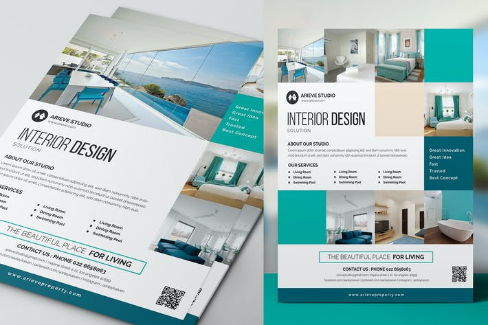 Thumbnail for Simple Interior Design Flyer