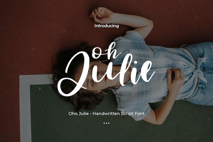 Thumbnail for Oho Julie - рукописный шрифт сценария