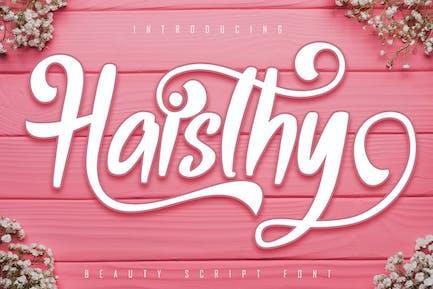Police de script de beauté Haisthy