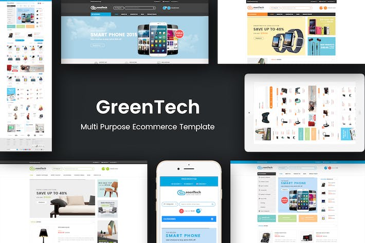 Thumbnail for GreenTech - Shopping Responsive Prestashop Theme