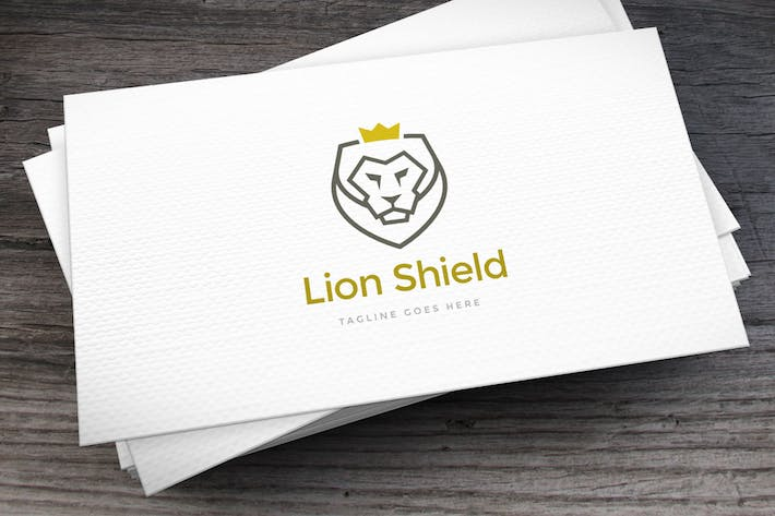 Cover Image For Lion Shield Logo Template