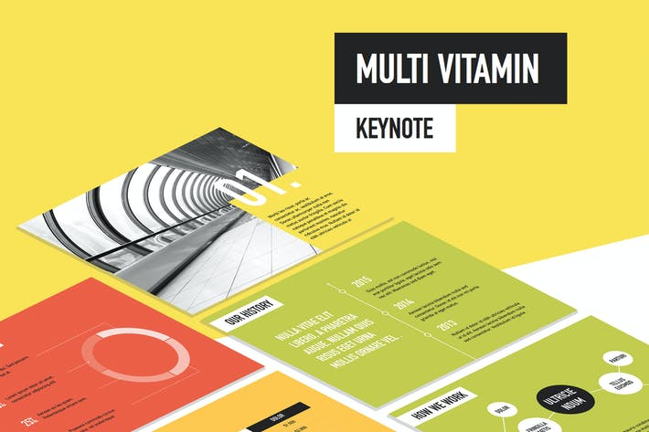 Thumbnail for Multi Vitamin Keynote Template