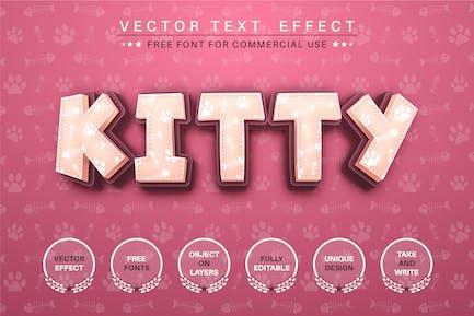 Kitty footprint - editable text effect, font style