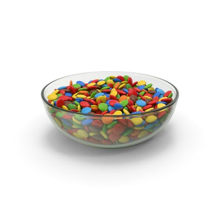 Chocolate Sweets In Glass Bowl