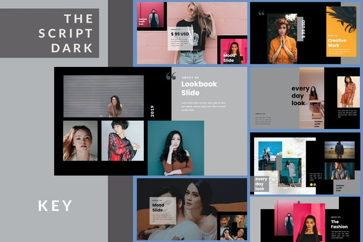 Thumbnail for The Script Dark Lookbook - Keynote Template
