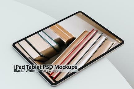 iPad White & Black Tablet PSD Mock-ups