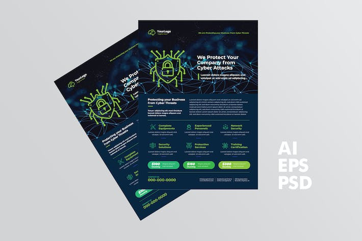 Cyber Security Flyer Design