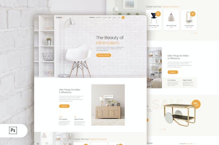 Thumbnail for Furno - Furniture Online Shop Landing