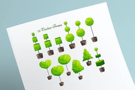 Kit de árboles triangulares