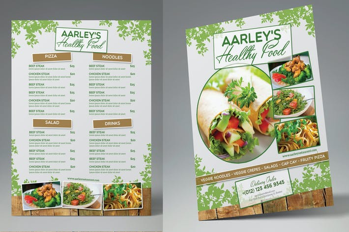 Thumbnail for Healthy Food Menu Flyer
