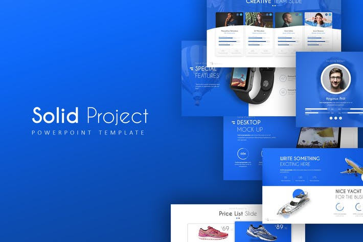 Thumbnail for Solid Project PowerPoint Template