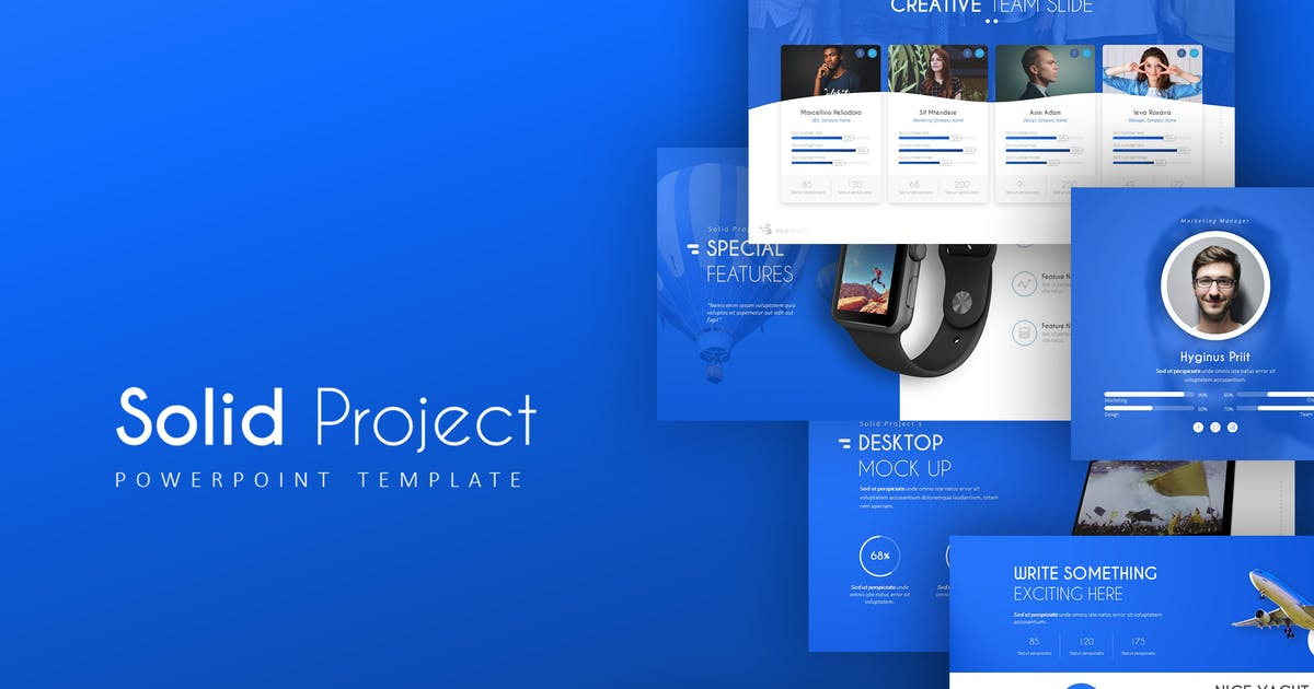 Solid Project PowerPoint Template by Unknow