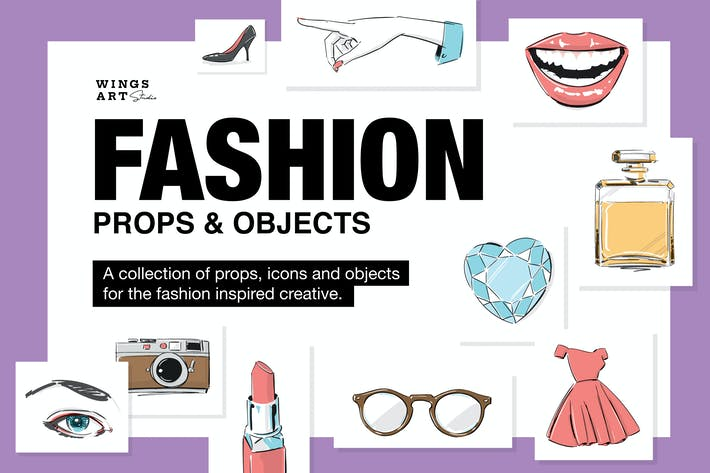 Thumbnail for Fashion Props Illustration Collection