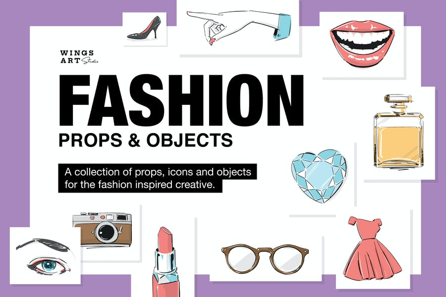 Fashion Props Illustration Collection