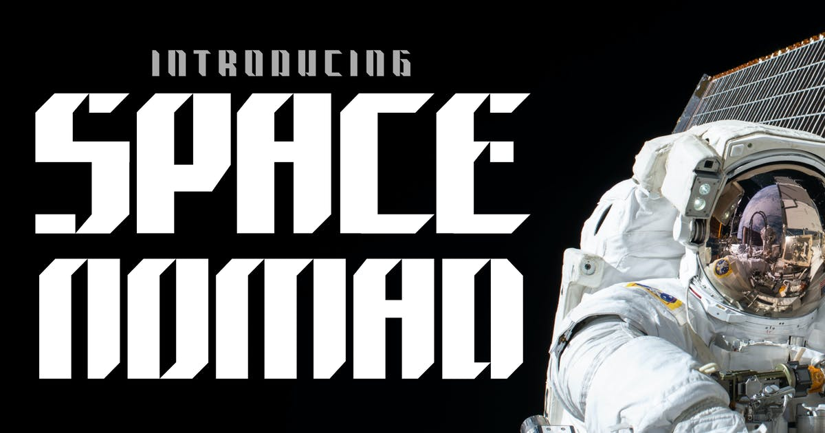 Download Space Nomad - techno sporty font by tokopress
