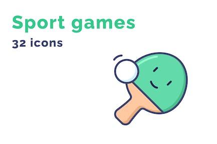Emotion von Sportspiele-Icons gesetzt