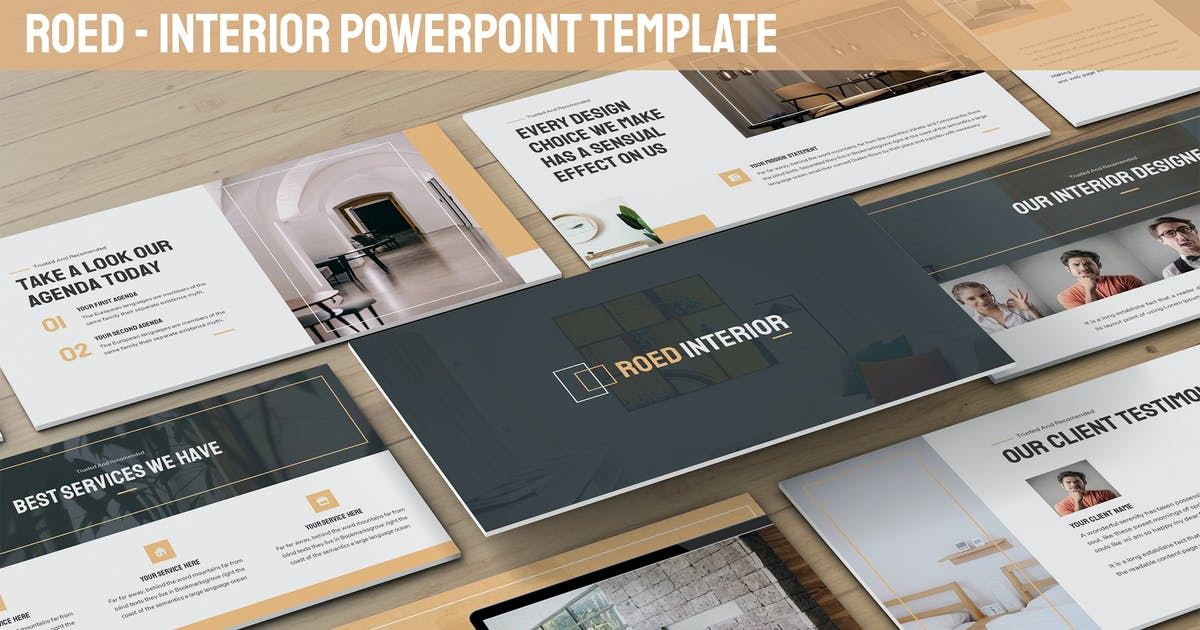 Download Roed - Interior Powerpoint Template by SlideFactory
