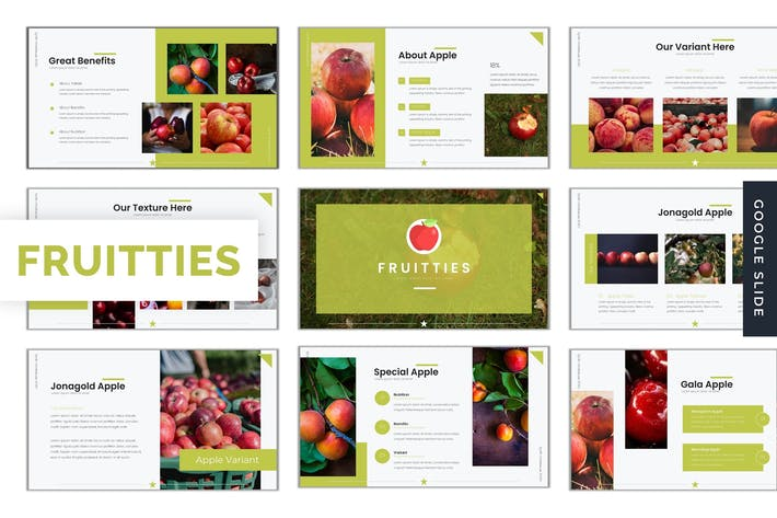 Thumbnail for Fruitties - Google Slides Template