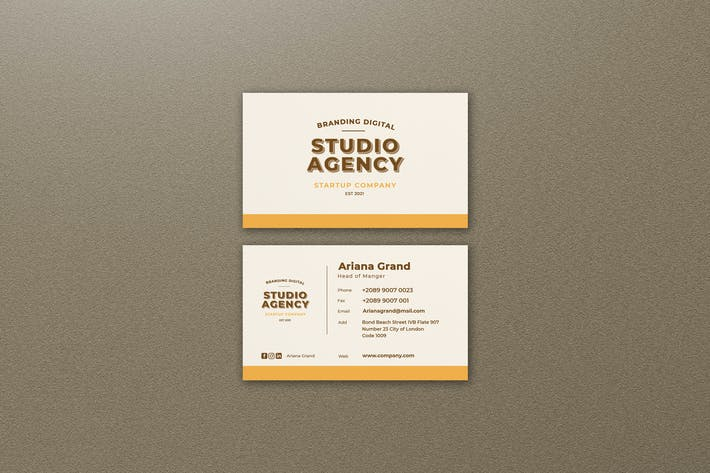 Thumbnail for Studio Agency Business Card