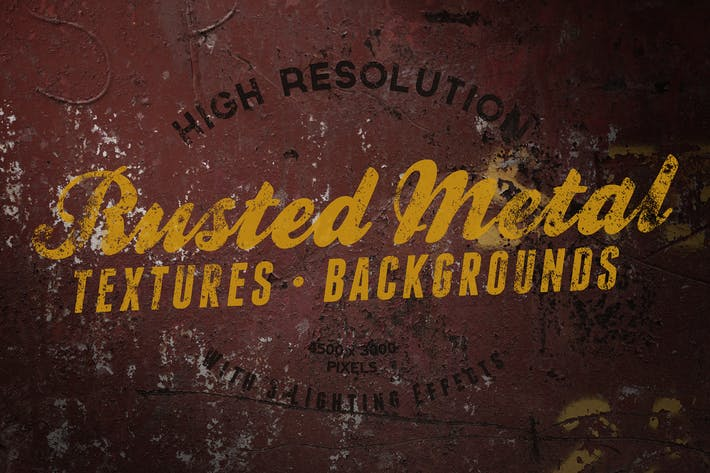Cover Image For Metal Rust, Scratches and Cracks Backgrounds