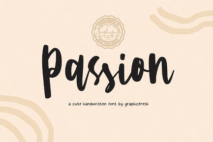 Passion - A Cute Handwritting Font