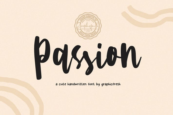 Thumbnail for Passion - A Cute Handwritting Font