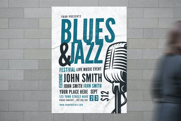 Thumbnail for Blues & Jazz Music Flyer