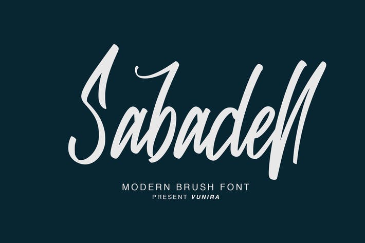 Thumbnail for Sabadell | Modern Brush Font