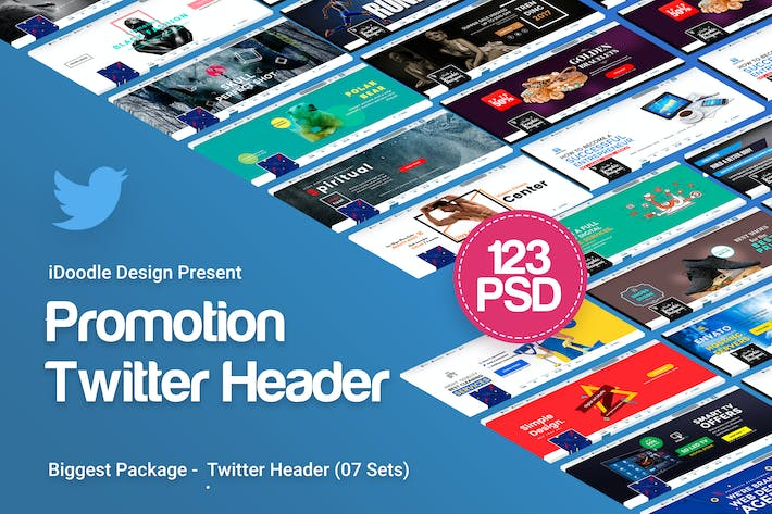 Thumbnail for Promotion Twitter Header - 123PSD [07Set]