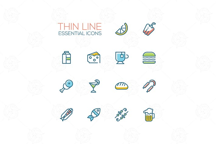 Cover Image For Essential icons - modern vector single line icons