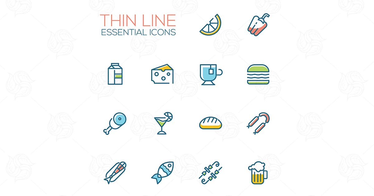 Download Essential icons - modern vector single line icons by Unknow