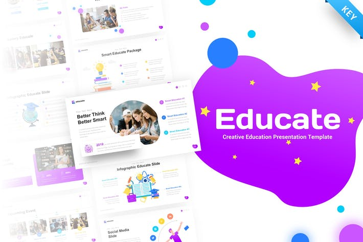 Thumbnail for Educate - Education Keynote Presentation Template