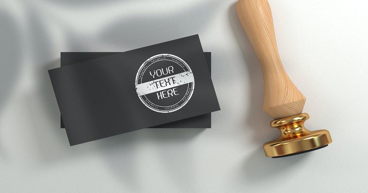Download Rubber stamp logo - mockup template by rwgusev