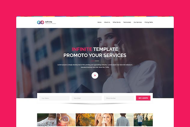 Infinite - CMS Unbounce Template - product preview 0