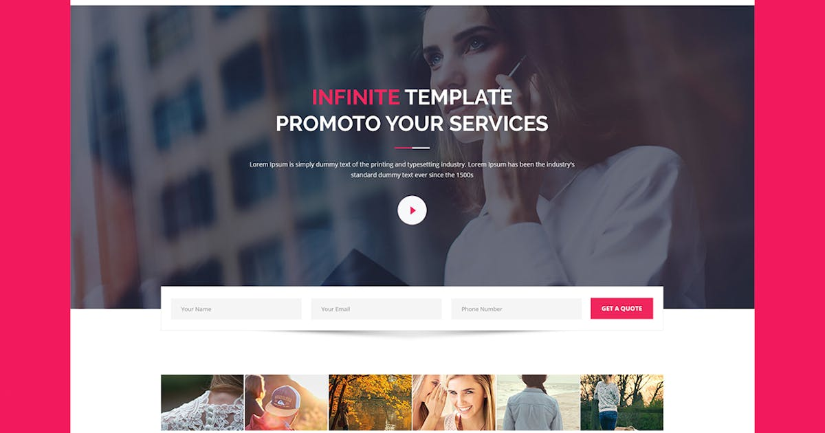 Download Infinite - CMS Unbounce Template by Morad