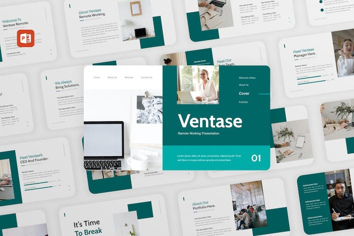 Thumbnail for Ventase - Remote Working PowerPoint Template