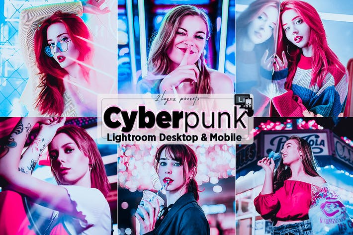 Thumbnail for Cyberpunk Portrait Lighroom Presets