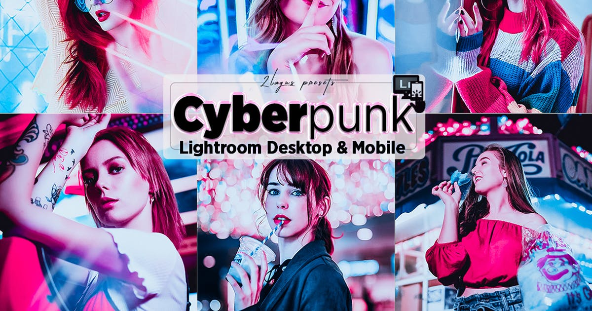 Download Cyberpunk Portrait Lighroom Presets by 2lagus