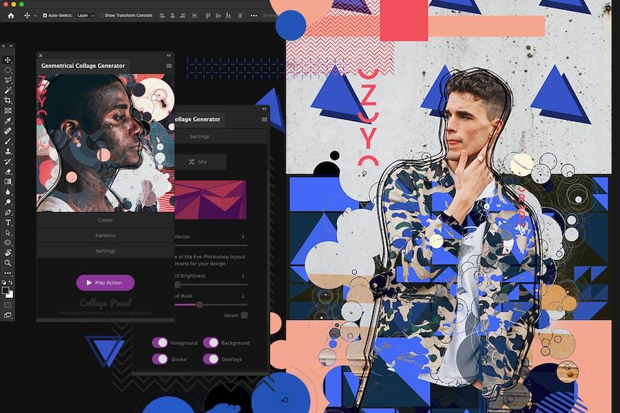 Geometrical Collage Generator - Photoshop Plugin